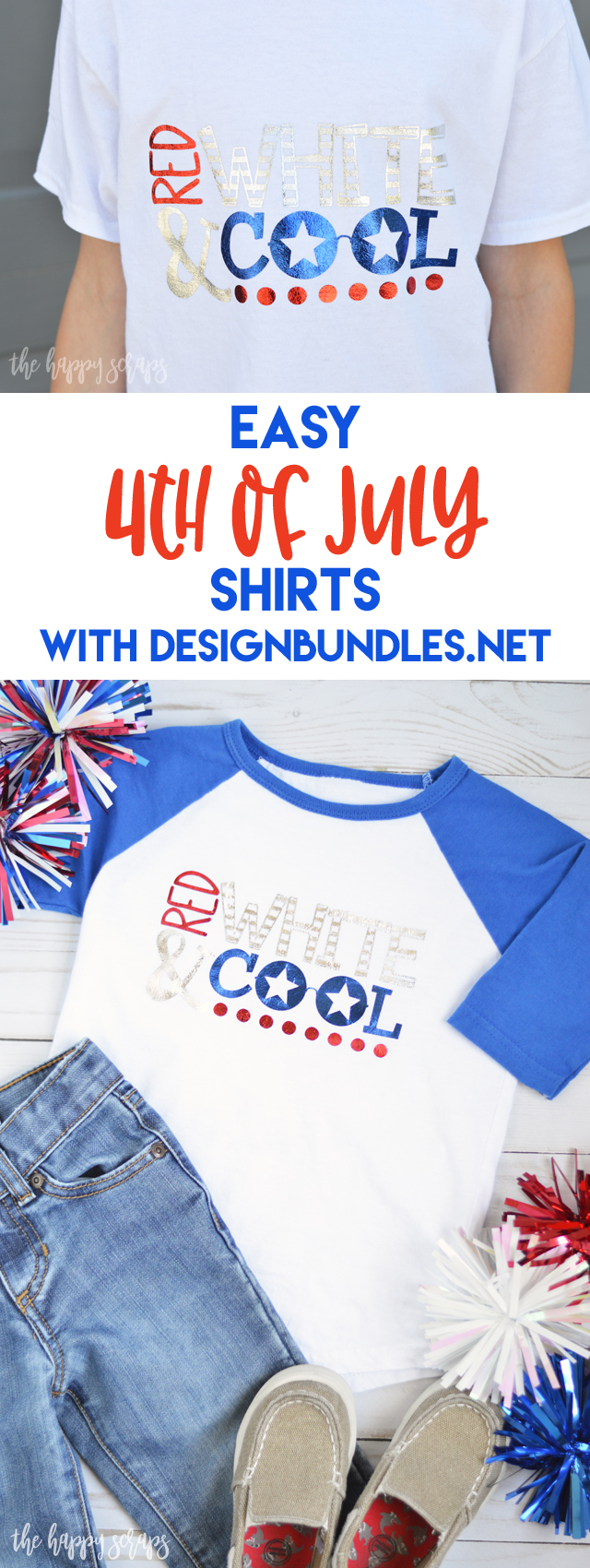 DesignBundles.net makes creating shirts for any occasion a simple task. Check out these Easy 4th of July Shirts that I made with one of their designs.