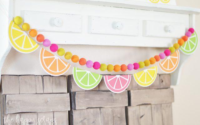 Colorful Summer Citrus Banner