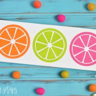 DIY Painted Citrus Sign