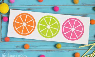 DIY Painted Citrus Sign