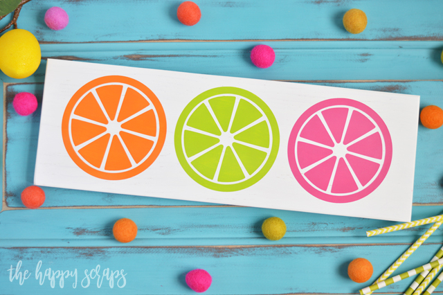 If you love summer and you love color then this DIY Painted Citrus Sign is for you! It's a quick and simple project that is sure to brighten your home!