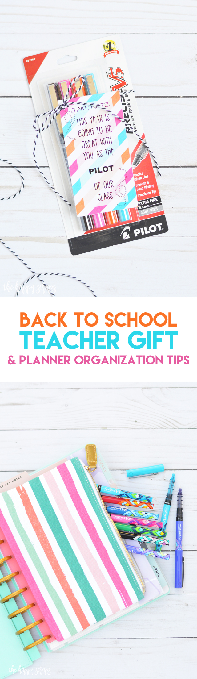 Every teacher needs the best! This Back to School Teacher Gift is just that + I'm sharing some simple tips for keeping your planner organized.