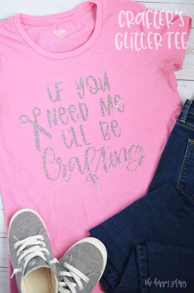 If you're a crafter then you need this If You Need Me, I'll Be Crafting Glitter Tee. Stop by the blog to see just how easy this is to make!