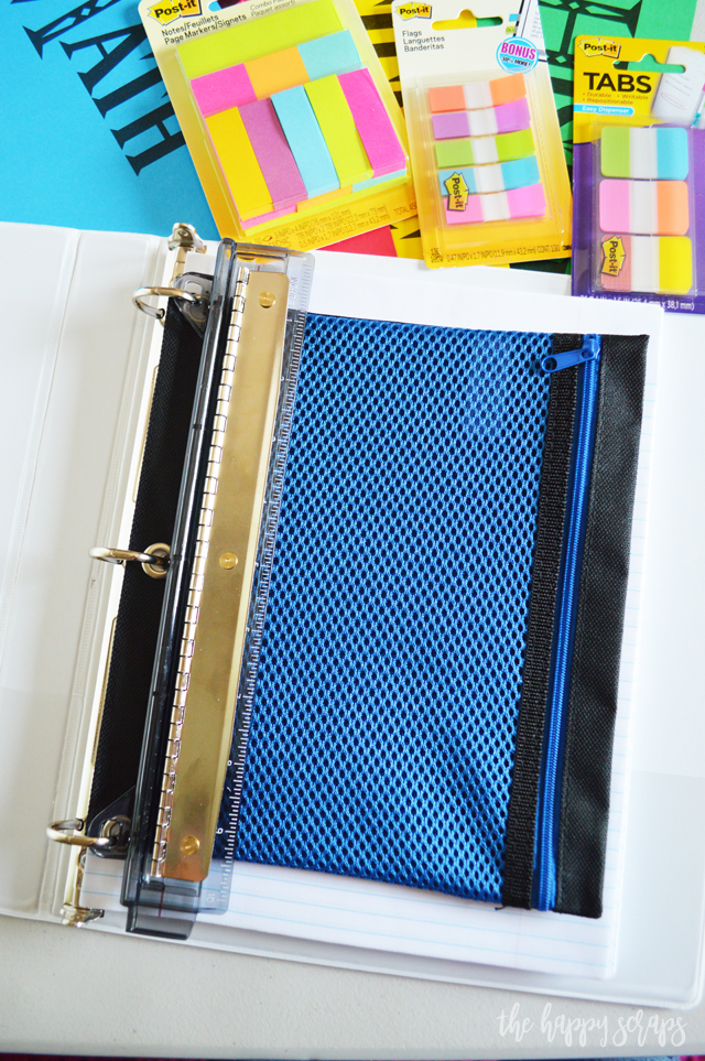 simple organization binder for high school students the happy scraps