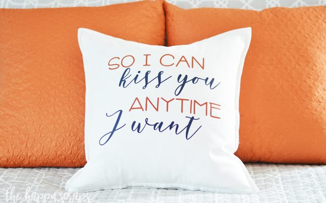 So I Can Kiss You Master Bedroom Throw Pillow