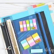 Simple Organization Binder for High School Students
