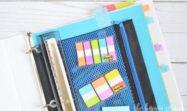 Simple Organization Binder for High School Students