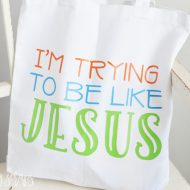 I'm Trying To Be Like Jesus Toddler Church Tote