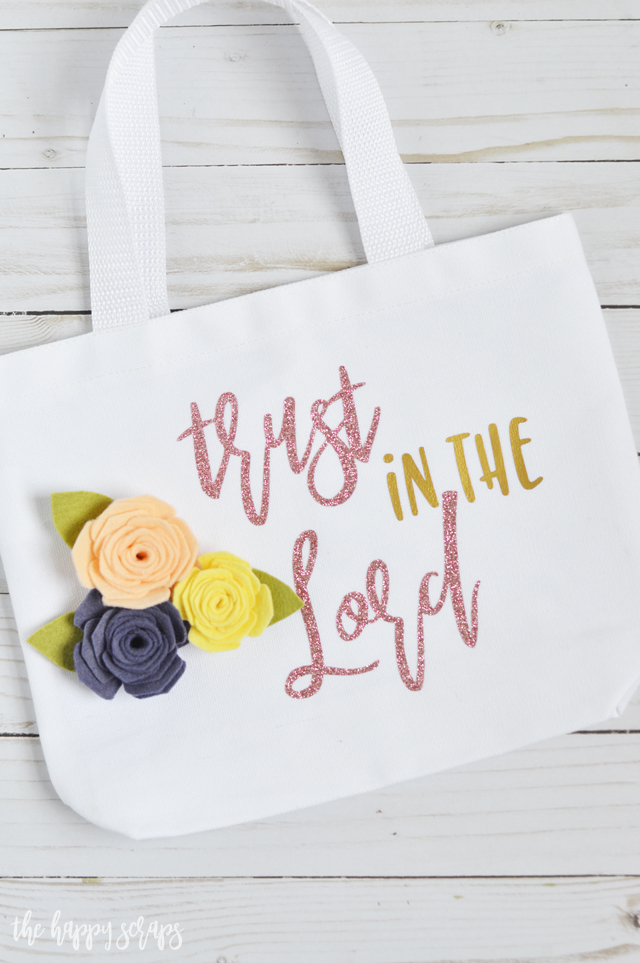 Now that I have a notebook for church, I knew I needed a bag to carry it in. This Trust in the Lord Mini Church Tote is perfect for my notebook and pens.