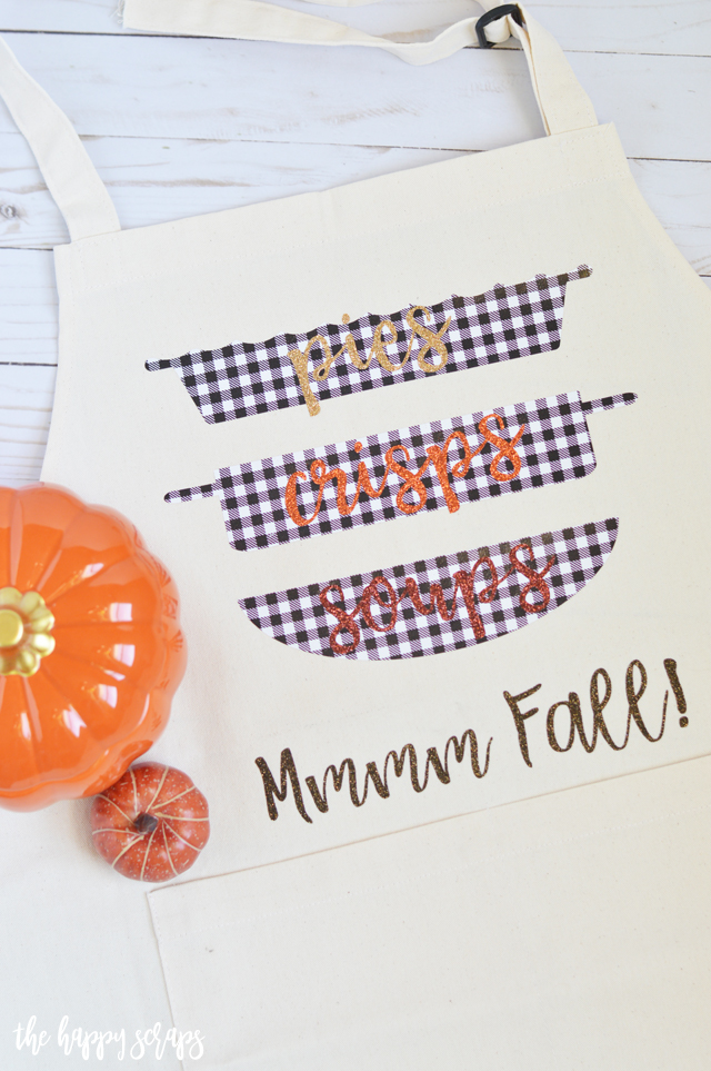 This DIY Fall Apron is a fun and simple project that you'll love wearing while cooking and baking this fall! Get the tutorial on the blog.