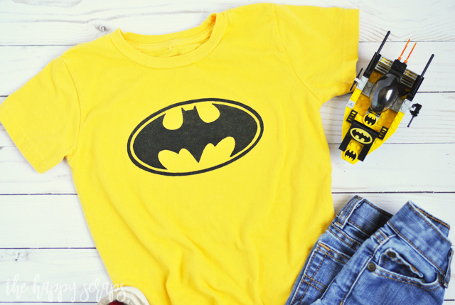 This DIY Toddler Batman Shirt is perfect for any toddler that is obsessed with Batman. My little guy loves Batman and this is the perfect shirt for him.