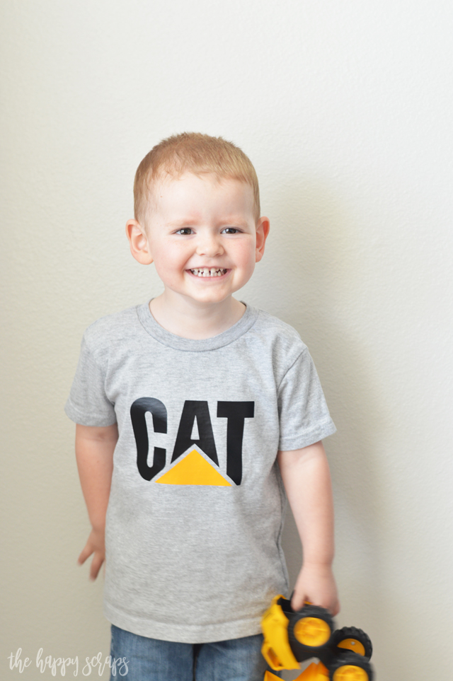 If your little one has any interest in machinery, then this DIY Toddler CAT Shirt is perfect for them! You can even customize the colors for the child!