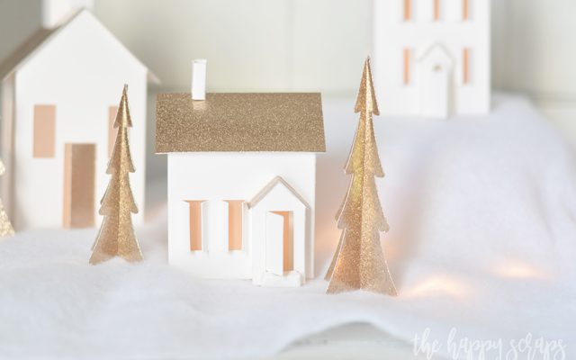 DIY Christmas Village with the Cricut Maker