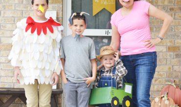 DIY Farmer and Animal Halloween Costumes with the Cricut Maker