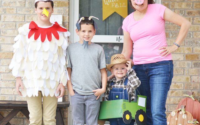 DIY Farmer and Animal Halloween Costumes with the Cricut Maker