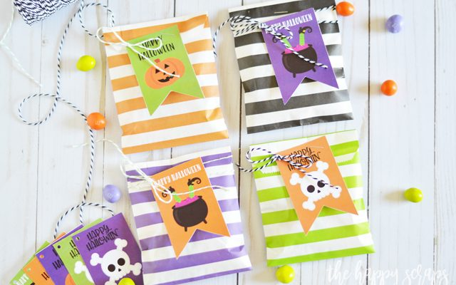 Halloween Treat Bags with Printable Tags