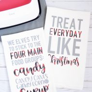 Elf Inspired Christmas Hand Towels