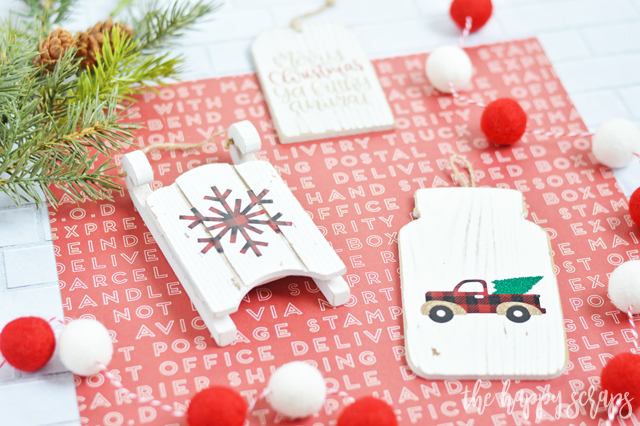 These DIY Buffalo Check Christmas Ornaments are so easy to create and will be the perfect addition to your Christmas tree! Tutorial at The Happy Scraps.