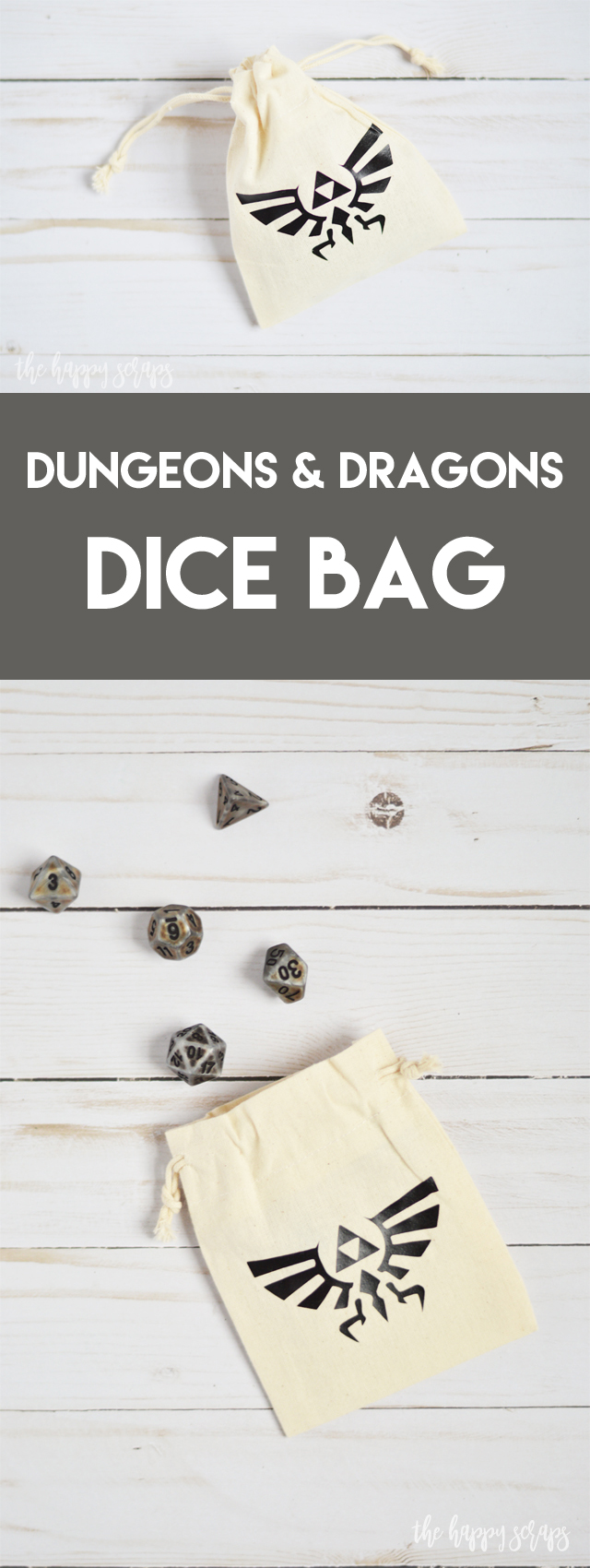 This Dungeons & Dragons Dice Bag is super simple and fast to make! Get all the details in the post. It would make a great gift as well!