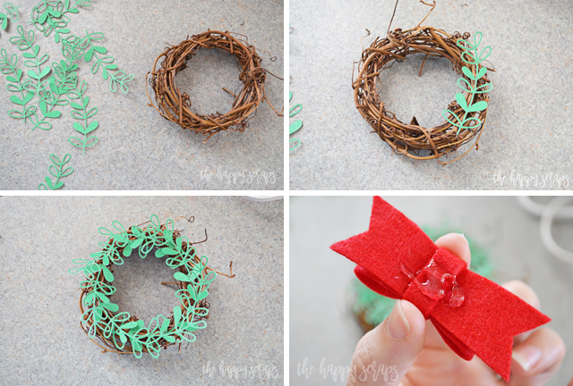 Diy Mini Christmas Wreaths For Kitchen Cabinets The
