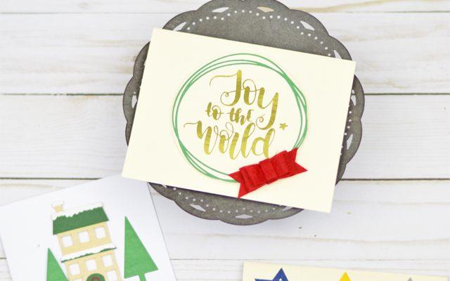 Handmade Holiday Cards with Cricut Maker