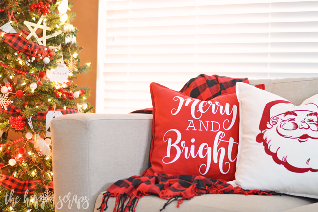 These DIY Christmas Throw Pillows are a quick and easy project that will have your home ready for Christmas in no time! Get the tutorial on the blog.