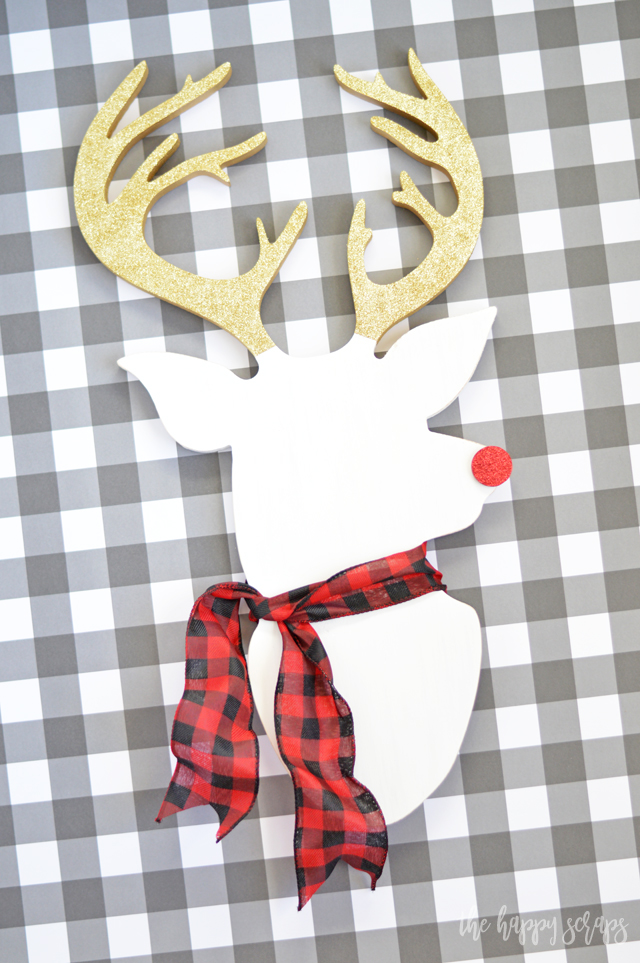 Because everyone needs a fun Rudolph in their home for the holidays, today I'm sharing this DIY Rudolph Christmas Decor. Stop by and check it out!