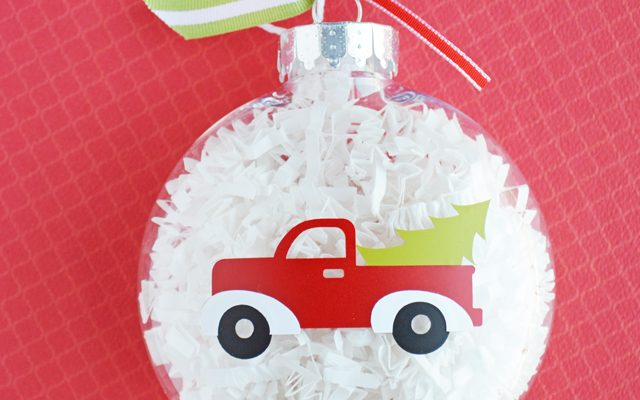 DIY Red Truck Christmas Ornament