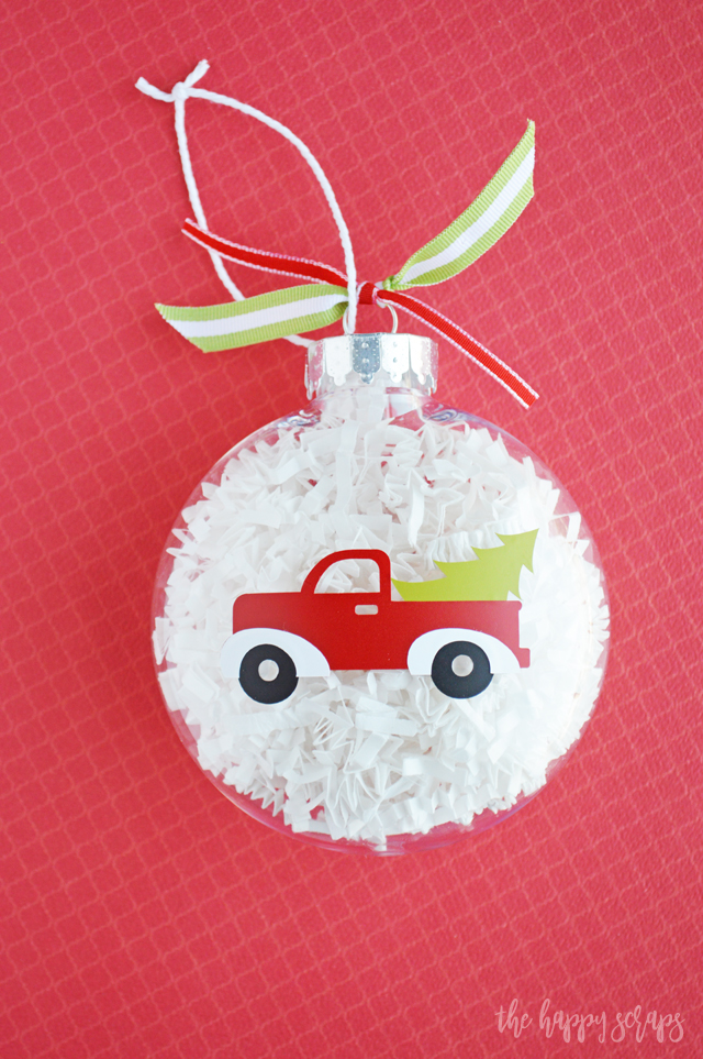 Diy Red Truck Christmas Ornament The Happy Scraps