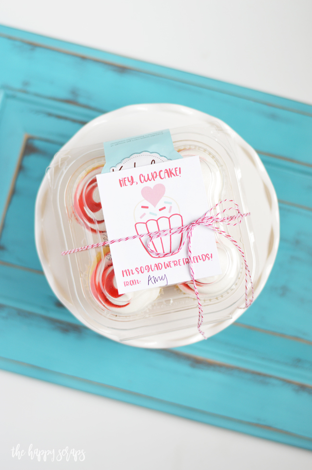 This Hey Cupcake - Valentine Friend Gift is perfect to give to friends, teachers, neighbors, or those you minister to. Get the printable on the blog.