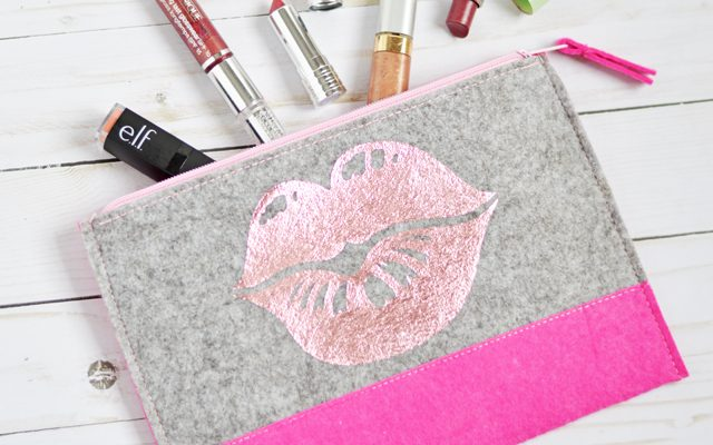 Easy Lipstick Pouch with Foil Iron-On