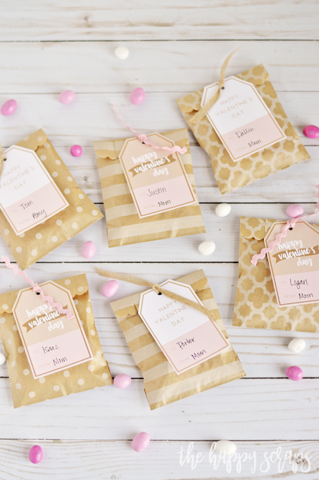 These Happy Valentine's Day Gift Tags are perfect for adding to a treat bag, or a larger gift! Free Printable Tags are available on the blog.
