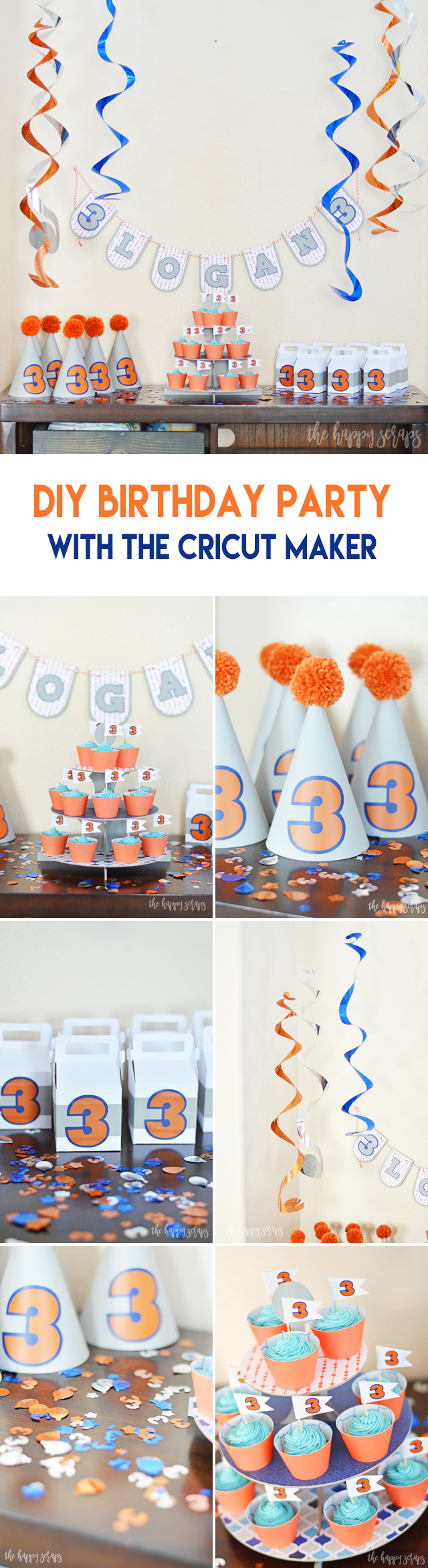 Putting together a DIY Birthday Party with the Cricut Maker is so fun! Use your own ideas to create it or use these that are ready for you!
