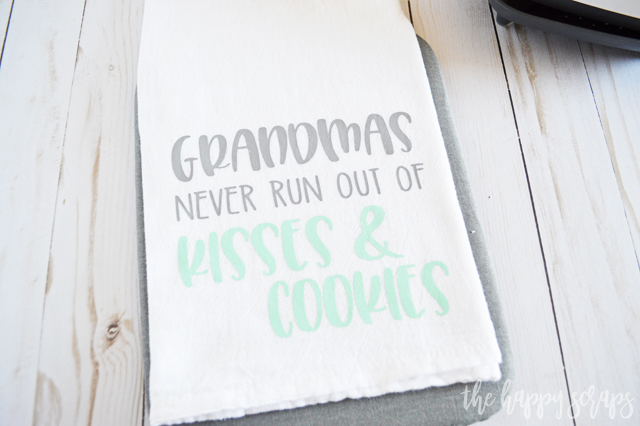 This Grandmas Kitchen Towel - Mother's Day Gift Idea is such a quick and easy project that grandma is sure to love!