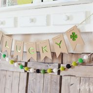 Lucky St. Patrick's Day Banner with the Cricut Maker