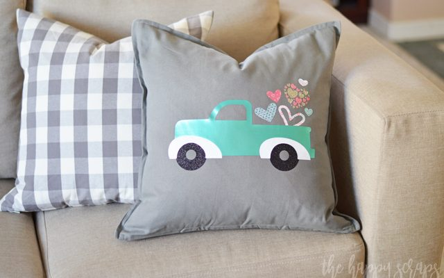 DIY Valentine Truck Pillow