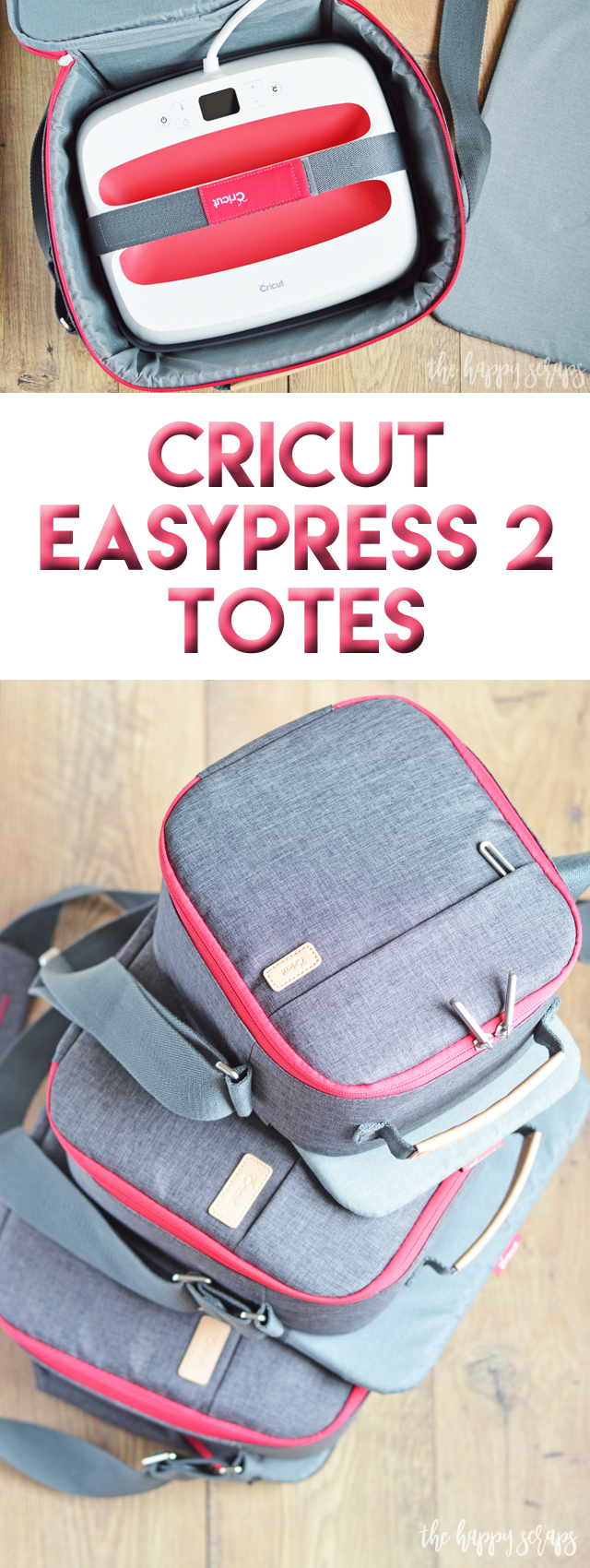 These new Cricut EasyPress 2 Totes make creating on the go simple! Load up your EasyPress 2 in these stylish totes and you'll be ready to create anywhere.