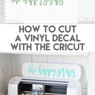 How to Cut a Vinyl Decal with the Cricut