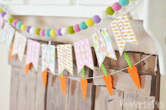 Add some pops of color to your Easter decor with this Hop Hop Hop Easter Banner. Get all the details + the simple tutorial on the blog.
