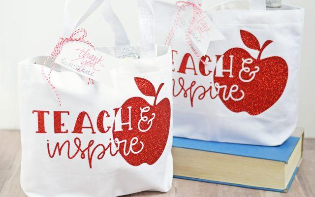 Teach & Inspire Teacher Gift Tote