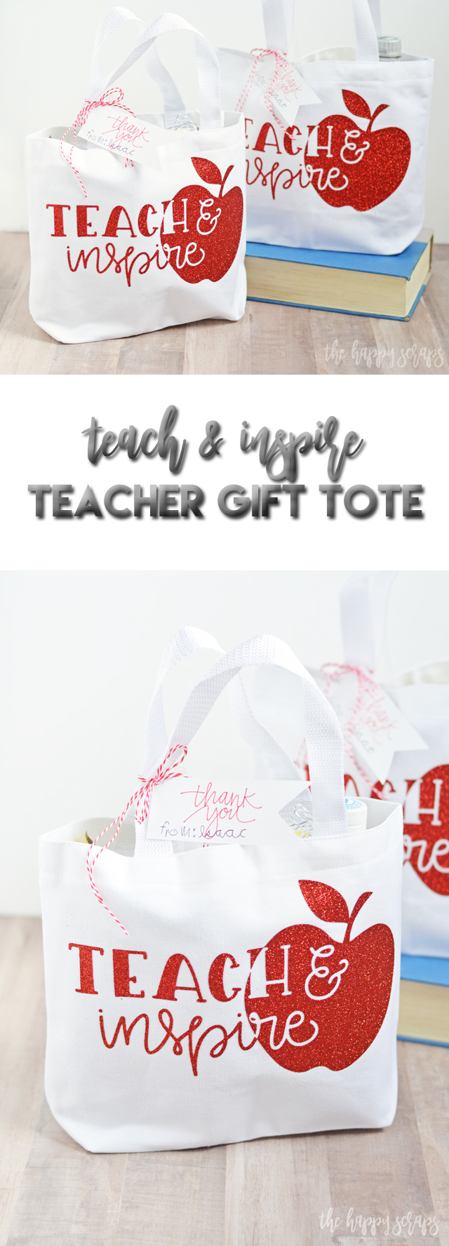 Spoil those teachers this year with a Teach & Inspire Teacher Gift Tote filled with all kinds of goodies that the teacher is sure to love!
