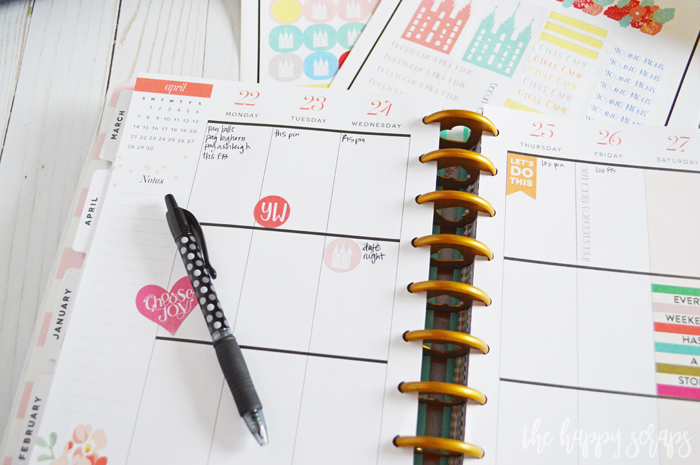 Your planner will look so cute with these Latter-Day Saint Print then Cut Planner Stickers! Get the Cricut cut file + details for these on the blog.