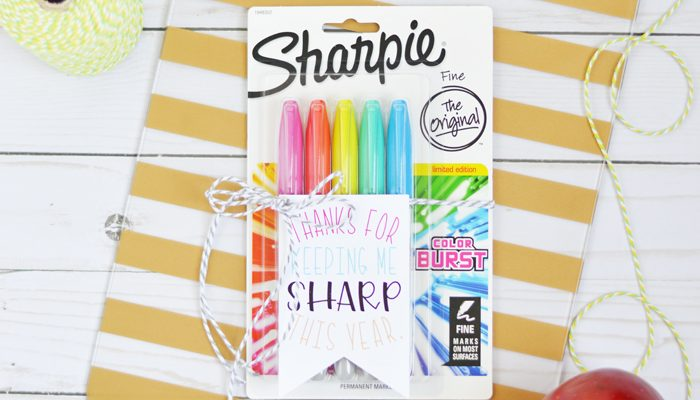 Sharpie Teacher Gift with Printable Tag