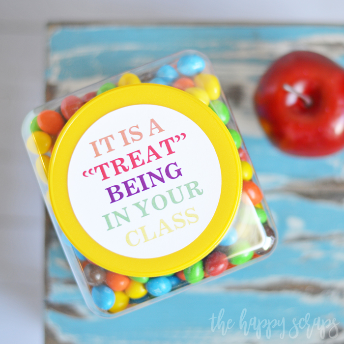 Teacher Gift Tags with Cricut Print then Cut - The Happy Scraps