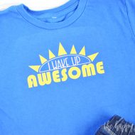 I Wake Up Awesome Toddler Shirt