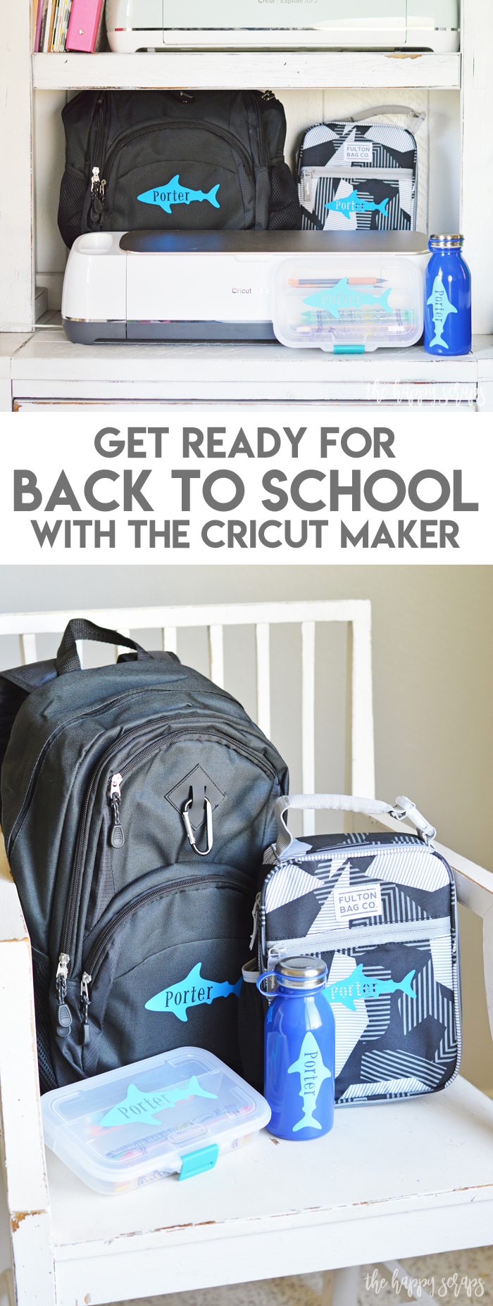Getting ready for Back to School with the Cricut Maker. The Cricut Maker sure makes getting ready for school to start again, a breeze.
