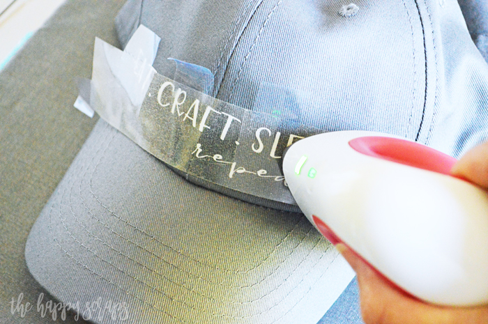 The Cricut EasyPress Mini is the key to getting this Quick & Easy Hat Decal project done! You'll have your design cut and applied in no time!
