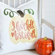Simple Fall Throw Pillow