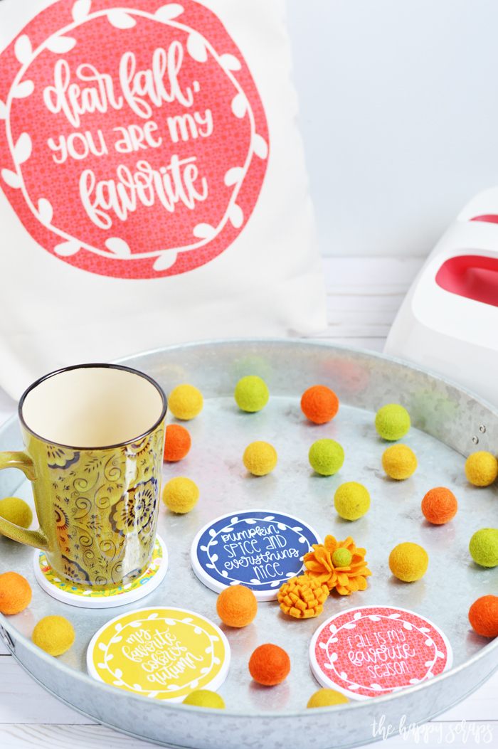 Have you tried Cricut Infusible Ink yet? It is so fun to use to create your own unique projects like these Fall coasters and tote + the color is so vibrant!