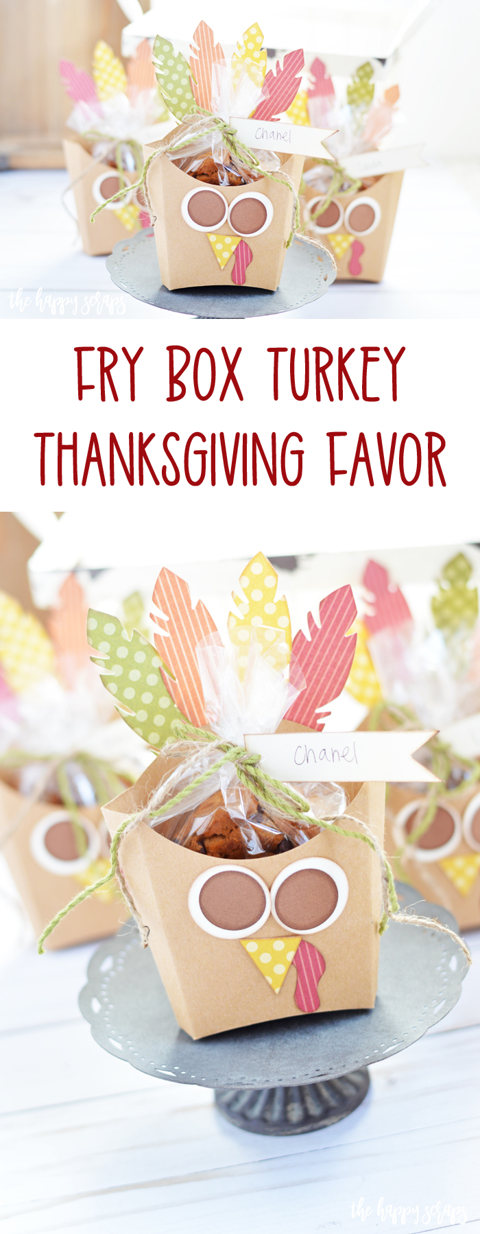 This Fry Box Turkey - Thanksgiving Favor is the perfect gift for ministering or you can use it for Thanksgiving day as a favor for guests.
